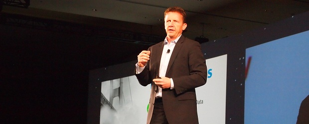 EMC's Jeremy Burton addresses EMC partners. (Photo by Nestor Arellano)